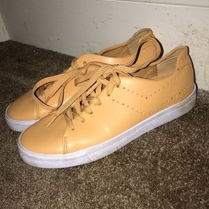 PONY Yellow Faux Leather Sneakers